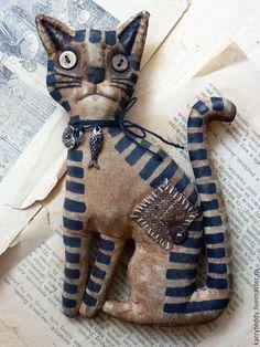 """Ароматизированные куклы ручной работы. Ярмарка Мастеров - ручная работа. Купить Ароматный подарок котик-обормотик """"Серьезный"""". Handmade. Коричневый"""