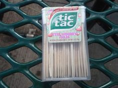 Re-use a tic tac container for toothpicks! Great for picnics or the car! - https://www.facebook.com/different.solutions.page