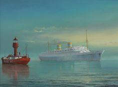 Nieuw Amsterdam 1938 HAL (1) y barco faro Calshot Spit