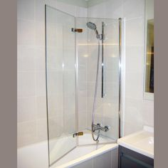 Hart offer a stunning range of shower screens and bath screens. Available in a variety of shapes and sizes our shower screens are sure to enhance your bathroom design. Tiny House Bathroom, Glass Bathroom, Bathroom Renos, Glass Shower, Bathroom Renovations, Small Bathroom, Bath Shower Screens, Shower Over Bath, Tub Shower Combo