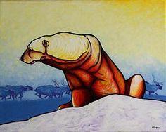 Hunger Burns - Polar Bear  by Joe  Triano