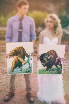 couple + art // photo by Glass Jar Photography // http://ruffledblog.com/southwestern-meets-wes-anderson-inspiration