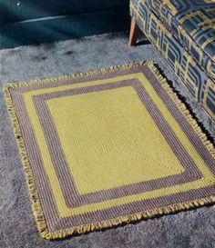 Free Crochet Pattern: Yellow And Gray Rug From http://www.bestfreecrochet.com/2011/09/28/fp264-yellow-gray-rug-crochet-pattern/