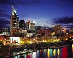 nashville tn photos | Nashville Skyline At Dusk,