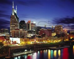 Nashville, TENNESSEE Skyline At Dusk,