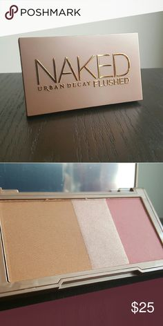 Urban Decay Naked flushed in Naked A silky bronzer, highlighter, and blush in a sleek, travel-ready compact. Medium satin bronzer, soft pink champagne shimmer highlighter, dusty rose blush with a hint of shimmer. Urban Decay Makeup Blush