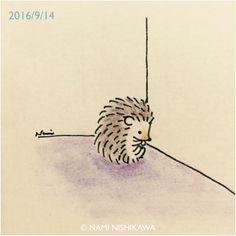 Hedgehog Drawing, Hedgehog Pet, Cute Hedgehog, Hedgehog Illustration, Illustration Art, Doodle Drawings, Cute Drawings, Cat Comics, Cute Images