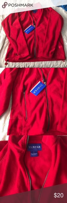 Turfer sport red zip up sweater New with tags never worn turfer Sweaters