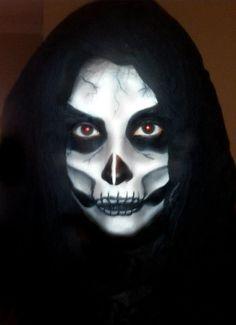 Skeleton Face for Halloween. Halloween Make up