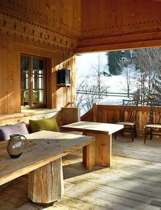 Rustic Modern Swiss Chalet