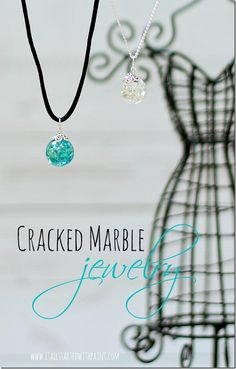 cracked marble necklace jewelry