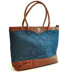 Teal Quilted Tote Bag