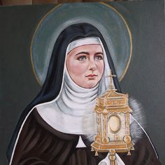 St.Clare of Assisi Holding Monstrance Poor by goodshepherdfibers