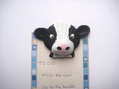 Cow magnet Seashell cow magnet Beach nautical Cape by Lorishellart, $20.00