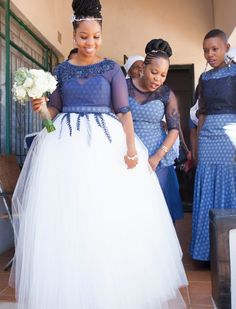 Shweshwe dresses is one among the African materials that are gaining momentum. Shweshwe dresses come in varied styles and might serve for each ancient and compa African Print Dresses, African Print Fashion, African Fashion Dresses, African Dress, Wedding Dress Pictures, Wedding Dresses For Girls, Wedding Gowns, Bridesmaid Dresses, Wedding Images