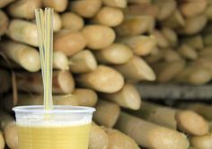 - Sugar cane juice is also fresh made and sold at the food street markets in São Paulo Food Truck, Latin American Food, Fruit Plants, Exotic Fruit, Mixed Drinks, Street Food, Almond, Food And Drink, Cooking