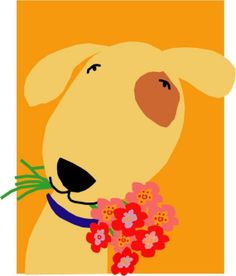 8 x 10 Print 11 x 14 inch mat sweet pup with by LizzyClara, $25.00
