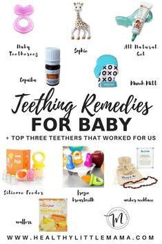 Top Teething Remedies for Baby - Healthy Little Mama Top Natural Teething Remedies for Baby Baby Teething Remedies, Teething Gel, Natural Teething Remedies, Baby Teething Signs, Baby Teething Chart, Baby Teething Symptoms, Teething Toys, Fingerfood Baby, Baby Information