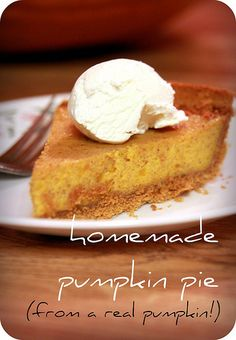 Homemade pumpkin pie I