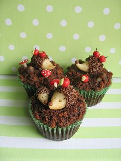 Hedgehog Cupcakes by Maria Olejniczak - Cupcakes Take The Cake