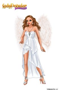 Módní Aréna Popular Girl, Arno, Fashion Games, Supermodels, Wrap Dress, Lady, Dresses, Stuff Stuff, Vestidos