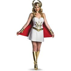 Sexy Masters Of The Universe - She-Ra Adult Costume. Brand New Sexy Sassy Masters Of The Universe - She-Ra Adult Halloween Costume Super Hero Costumes, Adult Costumes, Costumes For Women, Halloween Costumes, Movie Costumes, Popular Costumes, Awesome Costumes, White Costumes, Party Costumes