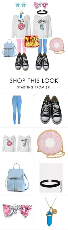 """""""me and Chloeville forever"""" by fashionforwardfaith ❤ liked on Polyvore featuring New Look, Converse, Nila Anthony, ASOS Curve, Bling Jewelry and Dee Berkley"""