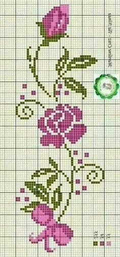 This Pin was discovered by Roc Wedding Cross Stitch Patterns, Cross Stitch Borders, Cross Stitch Rose, Cross Stitch Flowers, Cross Stitch Designs, Cross Stitching, Hardanger Embroidery, Cross Stitch Embroidery, Embroidery Patterns