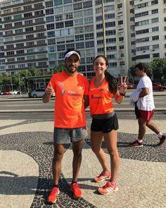 Nuestros socios Marco Ortega y Eugenia Alvarado listos con su trote de activación para correr mañana en Brasil el Maratón de Río de Janeiro.