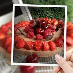 Philadelphia ostekake med sjokolade Philadelphia, Strawberry, Fruit, Food, Strawberries, Meals, Philadelphia Flyers
