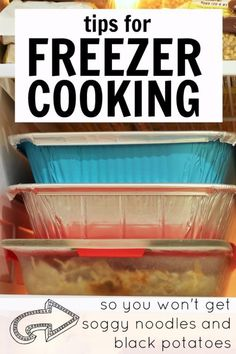 """Tips for Freezer Cooking so You Won't Get Soggy Noodles and Black Potatoes Watch out for those """"dump"""" crock pot freezer meals! Bulk Cooking, Batch Cooking, Freezer Cooking, Cooking Tips, Cooking Recipes, Cooking Classes, Cooking Bacon, Easy Cooking, Cooking Lamb"""
