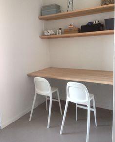 #bureau met planken van #beuk