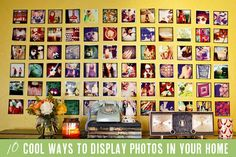 10 cool ways to display photos in your home from Babble.com