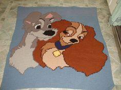 Lady and tramp crochet pattern afghan blanket