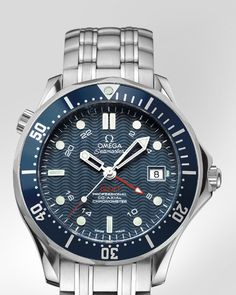 OMEGA Watches: Seamaster Diver 300 M Co-Axial GMT 41 mm - Steel on steel - 2535.80.00