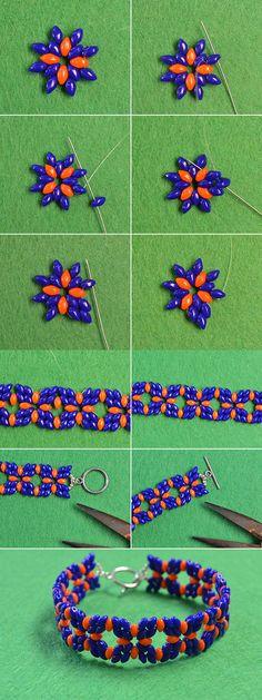 Wanna the 2-hole seed beads bracelet? LC.Pandahall.com will share us the tutorial soon.