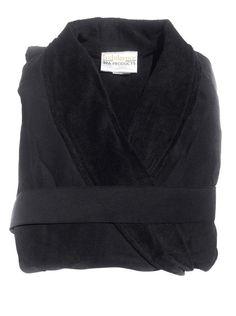 Microfiber Robe - Black – Indulgence Spa Products