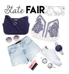 """The state fair"" by mareehamasood246 on Polyvore featuring River Island, Alexander Wang, Lacoste, Vera Bradley, MAC Cosmetics, Monki, Nine West, statefair and summerdate"