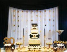 Great Gatsby themed desert buffet