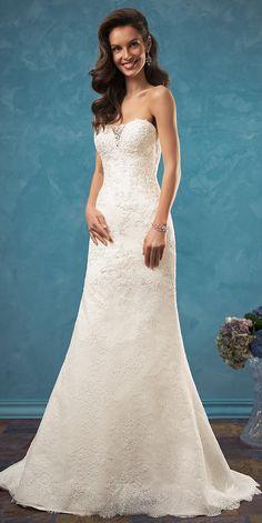 4c3619274f249 amelia sposa 2017 bridal strapless sweetheart neckline heavily embellished  bodice elegant beautiful modified a line wedding dress low back chapel sweep  ...
