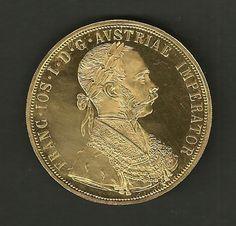 Moeda de Ouro da Austria de 4 Ducado com 14g de ouro .989 de 1915