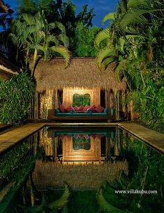 The stunningly beautiful tropical pools in Bali - My Cosy Retreat Tropical Pool, Tropical Landscaping, Tropical Houses, Tropical Garden, Resort Bali, Cabana, Gazebo, Pergola, Amazing Nature
