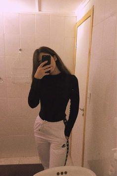 slim long black crop top turtle neck on my depop! Girl Photo Poses, Girl Photography Poses, Girl Photos, Mode Instagram, Instagram Pose, Girl Outfits, Cute Outfits, Fashion Outfits, Looks Adidas