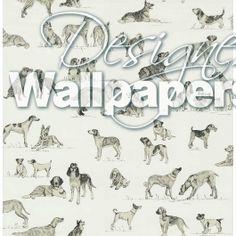 Thibaut dog print wallpaper - Dog print wallpaper ...