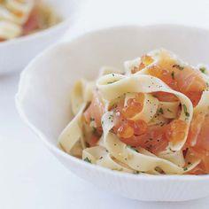 Pasta with Salmon Caviar  | Food & Wine