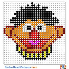 Sesame Street perler bead pattern. Download a great collection of free PDF templates for your perler beads at perler-bead-patterns.com