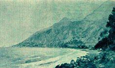 Alrededores de La Guaira Paisaje Martín Tovar y Tovar El Cojo Ilustrado 15 de Febrero de 1903 Nº 268  Pág 113.  Pintura  de Martín Tovar y Tovar. La pintura debe ser de entre esos mismos años de 1894-1895
