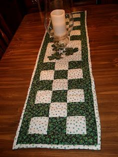 Simple quilted table runner
