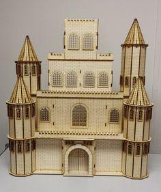 Castle House 1:24 scale Dollhouse