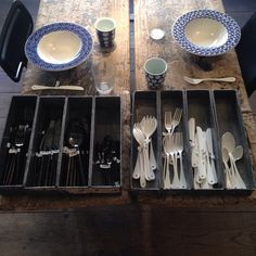 Contrasts in cutlery and homeware a la Provence. #ecru #shopping #favorite #places #travel #paris #homeware #interiors